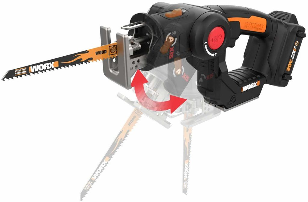 Worx 20V 2-in-1 Reciprocating Saw and Jigsaw