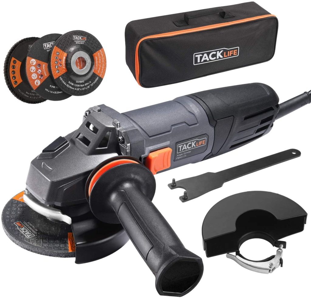 TACKLIFE Corded Angle Grinder